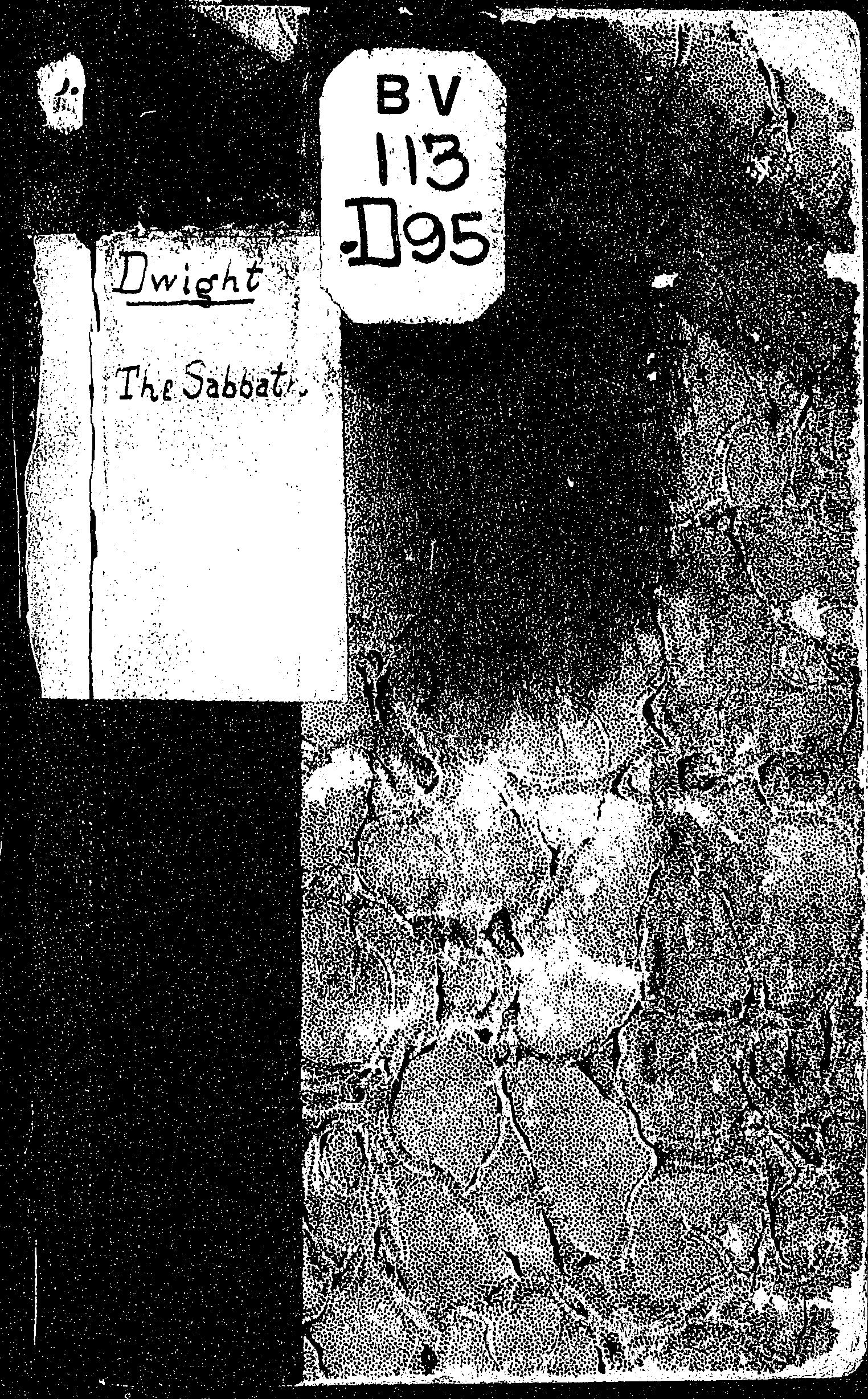 Cover of: A treatise on the Sabbath