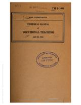 Cover of: Vocational Teaching