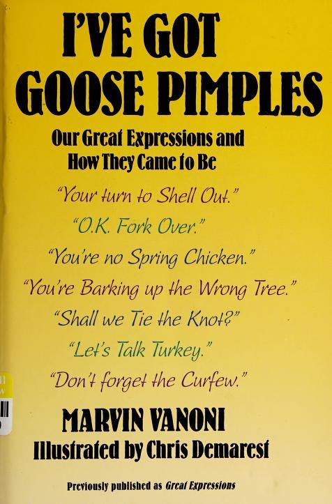I'Ve Got Goose Pimples by Marvin Vanoni