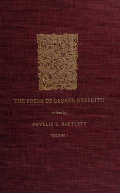 Cover of: The poems of George Meredith | George Meredith