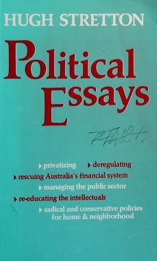 Cover of: Political essays | Hugh Stretton